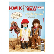 Kwik Sew Dolls Clothes Sewing Pattern 3937 Cowboy & Cowgirl Outfits