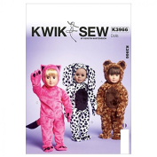 Kwik Sew Crafts Sewing Pattern 3966 Doll Clothes Onesies