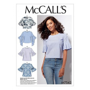 McCalls Ladies Easy Sewing Pattern 7542 Tops with Sleeve Variations