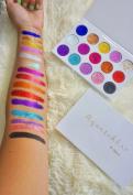 Glitter Eyeshadow Palette Highly Pigmented Gel Pressed - Aquarehla