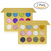Spdoo 24 Colours Glitter Powder Makeup Palette Professional - Long Lasting & Shimmer Eyeshadow Palette Mineral Pressed Glitter