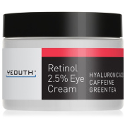 Eye Cream Moisturiser for Face from YEOUTH Boosted w/ Retinol, Hyaluronic Acid, Caffeine, Green Tea, Anti Wrinkle, Anti Ageing, Firm Skin, Even Skin Tone, Moisturise and Hydrate - Guaranteed