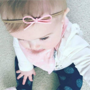 Baby Chain Dummy Nipple Belt Braided Pacifier Holder Clips Bow Headbands Set for Baby Girl's