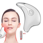 V-shaped Thin Face Massager, USB Charge Ionic Heated Vibrating Facial Eye Neck Lifting Compact Anti-Wrinkle Freckle Removing Beauty Massage Apparatus, CE Attestation
