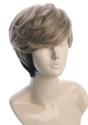 Topcosplay Short Layered Comics Cosplay WigsTwo Tone Costume Wig