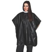 AP-08171 MARIANNA VINYL SHAMPOO CAPE - BLACK