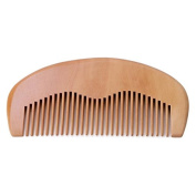 Techinal 11cm/4.33-Inch Natural Peach Wood Comb, Anti-static Comb, Hair Care Spa Massage Comb, For Man & Women