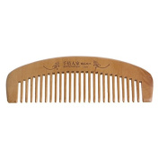 Techinal 16cm/6.30-Inch Natural Moon-Shaped Wooden Comb, Anti-Static Peach Wood Hair Brushes Fine-tooth Comb for Personal Healthy Care