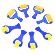 SevenMye 8 Pieces Sponge Painting Brushes Sponge Paint Rollers for Kids Arts Crafts, 8 Shapes
