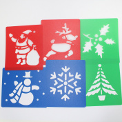 Washable Plastic Christmas Stencils Set of 6 by BCreative ®