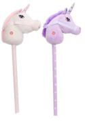 Childrens Plush Hobby Horse Unicorn With Sound ~ Unicorn Colour Vary