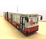 LONDON SINGLE DOUBLE DECKER RED BUS SOUVENIR TOY LIGHTS & MUSIC - LENGTH 39CM