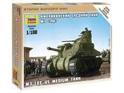 Zvezda 1/100 M3 Lee US Medium Tank # 6264 - Plastic Model Kit