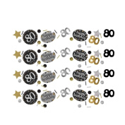 80th Birthday Table Confetti Gold Sparkle Triple Pack | Age 80 Party Supplies