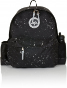 Hype Water Bottle Speckled Backpack Bag Black/White