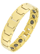 The Jewelbox Glossy 18K Gold Plated 316L Surgical Stainless Steel Bracelet For Boys Men