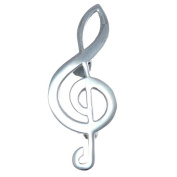 Sterling Silver Treble Clef Brooch - Musical Gifts