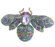 Sindary Charming 10cm Honeybee Bee Brooch Pin Austrian Crystal UKB6608