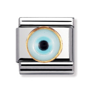 Nomination Composable Classic Greek Eyes made of Stainless Steel and 18K Gold