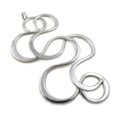 Large 925 Sterling Silver Infinity Pendant