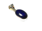 Afghanistani LAPIS LAZULI Sterling Silver 925 Gemstone Pendant -