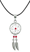 Hand made Silver Dream catcher Pendant with genuine stone