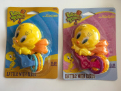Looney Tunes Tweedy Bird Rattle With Rings (Colours Vary)