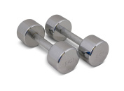 TRENAS Single or a Pair Chrome Dumbbell - Dumbbells - 1.00 kg to 25.00 kg