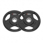 Body Power Rubber Enc Tri Grip STANDARD Weight Disc Plates - 1.25Kg