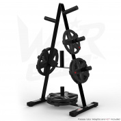 We R Sports Olympic Weight Plate Tree Rack Stand Storage For 5.1cm Plates Discs 7 Bar Holder