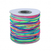 Dreamtop 100m Rainbow Colour Elastic Cord Beading Thread Stretch String Craft Cord, 1mm