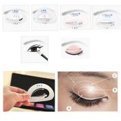Make up Tool Set, Lavany Beauty Smokey Shaper Eye Shadow Template Eyeliner Stencil Model