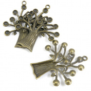 1 Pieces Necklace Bronze Repair DIY Jewellery Making Supply Charms Findings Bronze Tone X6ZT2 Tree Oak