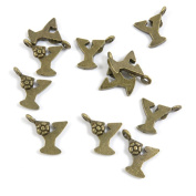 140 Pieces Alloys Lots Repair Jewellery Making Supply Charms Findings Bronze Tone N8AN4 Alphabet Letter Y