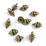 290 Pieces Collier Schmuckteile Jewellery Making Supply Charms Findings Bronze Tone C5HG5 Pointed Cone