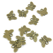 10 Pieces DIY Vintage Pendentif Jewellery Making Supply Charms Findings Bronze Tone S8PJ9 Butterfly