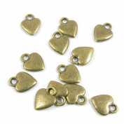 50 Pieces Vintage Bijou Collier Jewellery Making Supply Charms Findings Bronze Tone M1LH7 Love Heart