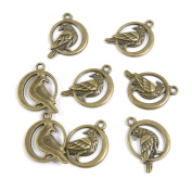 250 Pieces DIY Schmuckteile Jewellery Making Supply Charms Findings Bronze Tone Q3OU0 Bird Peace Pigeon