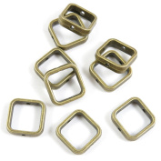 250 Pieces Collier Schmuckteile Jewellery Making Supply Charms Findings Bronze Tone W3HJ3 Square Frame