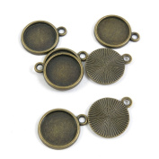 770 Pieces DIY Jewellery Making Supply Charms Findings Bronze Tone I7AE1 Round Cabochon Setting Blanks