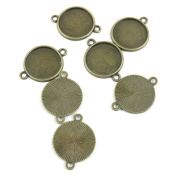 470 Pieces Schmuckteile Jewellery Making Supply Charms Findings Bronze Tone A3BW5 Round Cabochon Frame Blanks