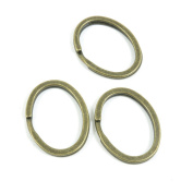 5 Pieces Breloques Schmuckset Jewellery Making Supply Charms Findings Bronze Tone F9ZE4 Oval Keyring
