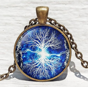 Tree of life pendant , White Tree Pendant ,Woodland jewellery ,Tree of life jewellery, nature pendant
