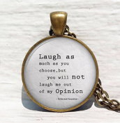 Laugh When You Can Apologise When You Should and Let Go Of What You Can't Change Necklace ,Inspiring Life Quote Necklace