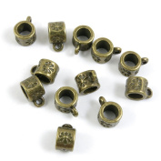 160 Pieces Schmuckteile Jewellery Making Supply Charms Findings Bronze Tone B5HF6 Apple Bails Cord Ends