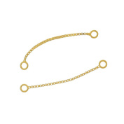 4PC Sterling Silver Box Chain Link Earring Connector 30mm