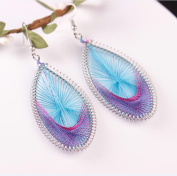 LittleB Exaggerated handmade elliptical thread Earrings for Women and Girls.