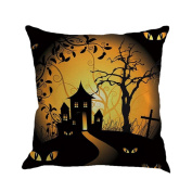 Hirolan happy halloween pillow case halloween props cushions cover