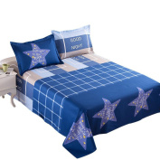 100% cotton summer thin bed sheets blue star modern simple style 160 * 230 cm