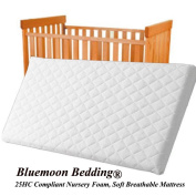 Bluemoon Bedding® Microfibre Hypoallergenic Crib Mattress 84 x 43 x 4cm Thick